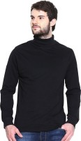 Dream of Glory Inc. Solid Men's Turtle Neck Black T-Shirt
