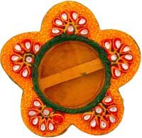 Halowishes Kundan work Chopra Showpiece  -  3 cm(Wooden, Yellow)