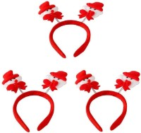 SKYCANDLE Cute White Red Christmas Snowman Hair Clip Hairpin for Baby Kids Girls,(Pack of 3) Hair Band(Red)