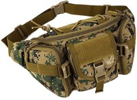 Aeoss Outdoor Unisex Waist Bag Tactical Military Waist Pack Chest Bag Pouch Waist Pack With Water Bottle Pocket Holder Molle Fanny Hip Belt Bag Unisex Waist Bag(Green)