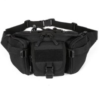 Aeoss Outdoor Unisex Waist Bag Tactical Military Waist Pack Chest Bag Pouch Waist Pack With Water Bottle Pocket Holder Molle Fanny Hip Belt Bag Unisex Waist Bag(Black)