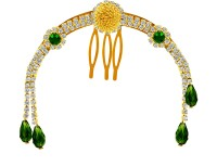 MJ Fashion Jewellery Stunning Hair Clip(Gold)