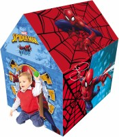Marvel Spider-man Play Tent House For Kids Of Age 3 To 8 Years In Handle Box Packing For Easy Storage Premium Quality Certified As En 71 European Standard Safe For Child Indoor Outdoor Toys For Kids Development Toys Multicolor Colour Includes Pipes Pipe Locks Tent(Multicolor)