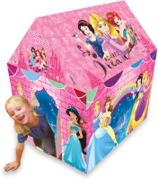 Disney Princess Play tent house for kids of age 3 to 8 years in handle box packing for easy storage Premium quality certified as EN 71 European standard safe for child indoor outdoor toys for kids development toys multicolor colour Includes Pipes Pipe locks Tent(Multicolor)