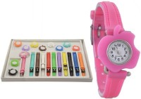 SPINOZA Multicolor and 11 Belt Watch - For Girls