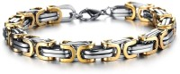 YELLOW CHIMES Stainless Steel Sterling Silver Bracelet