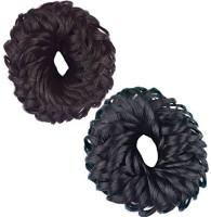 Param Set Of Small Hair Juda Band Bun (Black, Brown) Rubber Band(Multicolor)