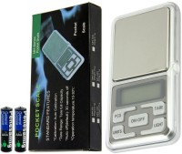 BalRama 0.1gram-500gram Digital Pocket Scale MH-500 LCD Display with Backlight Mini Portable Pocket Precision Electronic Handy Balance Weighing Scale with Counting Function for Gold Sterling Silver Gems Jewelry Laboratory Cooking Kitchen Counter Personal Weighing Scale(Silver)