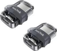 SanDisk Dual Drive OTG 3.0 64 GB + OTG 3.0 16 GB Pen Drive(Black)