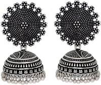 PinkCIty Oxidised Silver Plated Handmade Jhumka Jhumki Earrings Silver Jhumki Earring