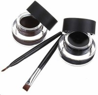 Music Flower Black and Brown Gel Eyeliner With brush 32 g(Black, Brown)