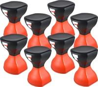 SARANGWARE Pinakin Stool Foldable Red & Black (Pack Of 8) Stool(Red)
