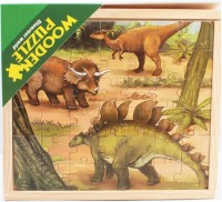 Montez Wooden Dinosaur Character Educational Fun Jigsaw Puzzle Game With Wooden Frame For Kids (147 Pieces)(147 Pieces)