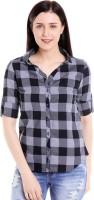 Campus Sutra Women Checkered Casual Multicolor Shirt