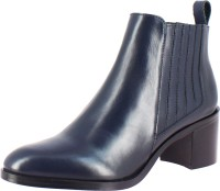 Saint G Womens Leather Ankle Boots For Women(Navy)