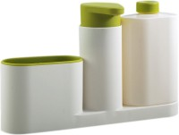 View Tuelip 3 Piece Sink Tidy Set With Refillable Soap Pump and Liquid Bottle 200 L Conditioner, Soap, Shampoo Dispenser For Bathroom White, Green) Washing Machine Soap Dispenser Home Appliances Price Online(Tuelip)