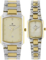 Titan 19552955BM02 Bandhan Analog Watch For Couple