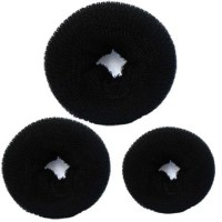 PARAM Hair Donut Pack of 3 | All 3 different sizes Bun(Black) - Price 139 65 % Off