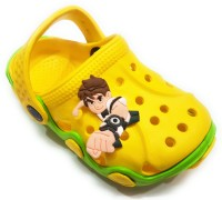 Angel Fashion Boys Slip-on Clogs(Yellow)