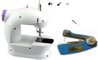 View Bluebells India ™stapler machine & Mini Portable 2-Speed Double Thread, Double Speed, With Small Light, With Foot Pedal AC100-240V Electric Sewing Machine( Built-in Stitches 1) Home Appliances Price Online(Bluebells India)