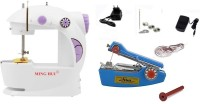 View Bluebells India ™stapler silai machine with Exclusive 4 In 1 Portable & Compact mini minghui With stapler silai machine Electric Sewing Machine( Built-in Stitches 1) Home Appliances Price Online(Bluebells India)