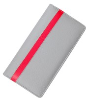Kittu pu-leather cheque book and ATM card holder silver(Silver)