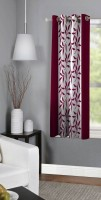 Panipat Textile Hub 150 cm (5 ft) Polyester Window Curtain Single Curtain(Floral, Maroon)