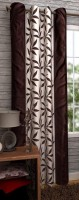 Panipat Textile Hub 210 cm (7 ft) Polyester Door Curtain Single Curtain(Floral, Brown)