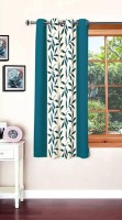 Panipat Textile Hub Polyester Window Curtain 150 cm (5 ft) Single Curtain(Floral Aqua)