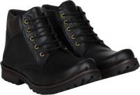 Baaroo Long Cowboy Boots, Outdoors Boots For Men(Black)