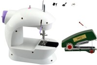 View Benison India ™stapler silai machine & ming hui Portable & Compact 4 in 1 Mini Adapter Foot Pedal A07 Electric Silai machine Electric Sewing Machine( Built-in Stitches 1) Home Appliances Price Online(Benison India)