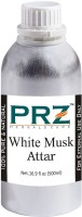 PRZ White Musk Attar Roll-on For Unisex (500 ML) - Pure Natural Premium Quality Perfume (Non-Alcoholic) Floral Attar(Floral)