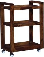 Ringabell Solid Wood Bar Trolley(Finish Color - Teak)