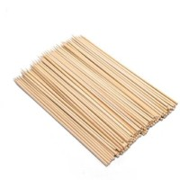 Sukot 6 Inch Bamboo Cocktail Party Sticks Disposable Wooden Disposable Wood Roast Fork, Salad Fork(Pack of 1)