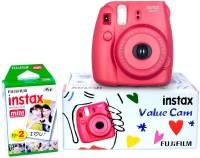 FUJIFILM Instax Camera Instax Mini 8 Value Cam (Raspberry) Instant Camera(Red)