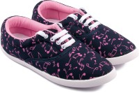 Asian Canvas Shoes(Navy, Pink)
