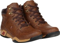 Kraasa Riding Rockers Boots For Men(Brown)