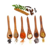 The Indus Valley Wooden Tea Spoon Set(Pack of 6)