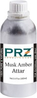 PRZ Musk Amber Attar For Unisex (100 ML) - Pure Natural Premium Quality Perfume (Non-Alcoholic) Floral Attar(Musk)