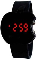 PMAX APPLE CUT Black Analouge DIGITAl Watch For Children Watch  - For Boys