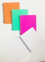 INDOGIFTS Regular Note Pad(Spiral Pad, Multicolor, Pack of 4)