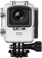 SJCAM Sports Action Camera M20 4K at 24fps UHD Action Camera 16MP Sony Sensor Gyro Stabilization/ 166° Wide FOV Distortion Correction Sports and Action Camera(White 16 MP)