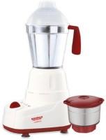Maharaja Whiteline MX-139 medium 350 Mixer Grinder(WHITE & RED, 2 Jars)
