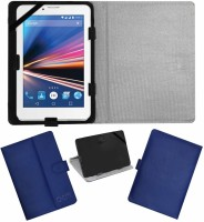 ACM Flip Cover for Lava Ivory S 4g(Blue, Cases with Holder, Artificial Leather)