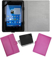 ACM Flip Cover for Dell Venue 7 3740(Pink, Cases with Holder, Artificial Leather)