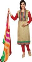 EthnicJunction Cotton Blend Embroidered, Applique Salwar Suit Material(Unstitched)