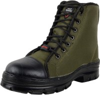 Para Trooper Combat Army Boot For Men Boots For Men(Green, Black)