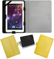 ACM Flip Cover for Lava Xtron Z704(Yellow, Cases with Holder, Artificial Leather)