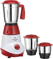 Maxstar MG10 Hero 500 Mixer Grinder(Red, White, Stainless Steel, 3 Jars)