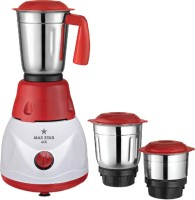 Maxstar MG09 Ace 550 Mixer Grinder(Red, White, Stainless Steel, 3 Jars)